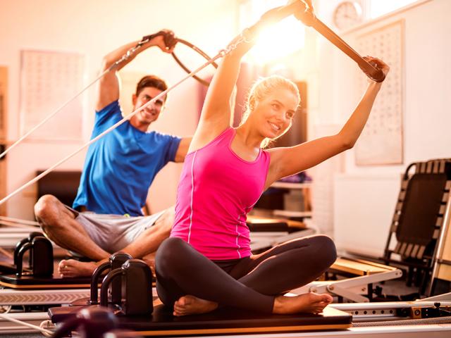 A cura pelos movimentos de pilates.